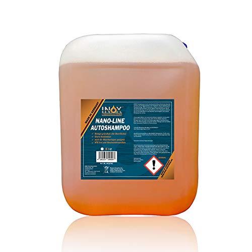 INOX® Nano Line Autoshampoo Konzentrat, 5L mit Lotuseffekt - Fahrzeugreiniger Wash & Wax - Für Glanz & Schutz