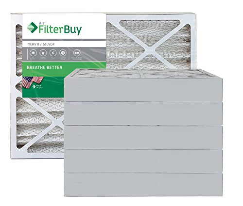FilterBuy 20x25x4 Air Filter MERV 8, Pleated HVAC...