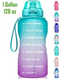 8. Fidus Large 1 Gallon/128oz Motivational Water Bottle with Time Marker & Straw,Leakproof Tritan BPA Free Water Jug,Ensure You Drink Enough Water Daily for Fitness,Gym and Outdoor Sports