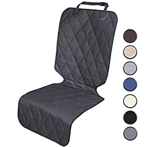 Vivaglory Dog Front Seat Covers, Universal Fitting Dog Car Seat Cover, Quilted & Durable Pet Car Seat Protectors with Anti-Slip Backing for Most Cars