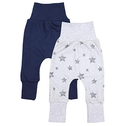TupTam Baby Jungen Mitwachshose 2er Pack, Farbe: Farbenmix 1, Größe: 80-86