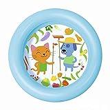 YLJYJ Piscina Inflable para bebés Piscina de Dibujos Animados PVC Saludable de Color Puro para 0-3 años Bebé Diversión en el Agua Bañera Bola de océano Arena (natación)