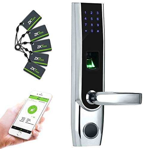 ZKTeco TL400B (Izquierda) Smart Lock Cerradura Inteligente y Biométrica con reconocimiento de Huella y Bluetooth (Manilla Izquierda)