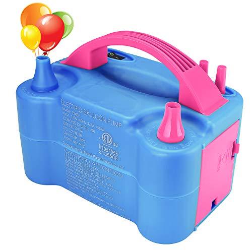 Hautton Electric Balloon Pump, Portable Dual Nozzle Electric Balloon Air Blower Electric Balloon Inflator 110V 600W for Balloon Arch, Balloon...