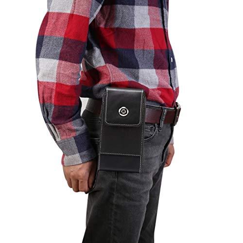 PHONETABLETCASE+ / Textura de piel de cordero Ocio simple Universal móvil Teléfono móvil Paquete de cintura de cuero con ranura de tarjeta, adecuado 5,4 pulgadas o debajo de los teléfonos inteligentes
