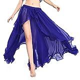 ROTAL SMEELA Bauchtanz Rock Sexy Mode Performance Frauen Röcke Hochwertiger Chiffon Teilt Großer Swing Rock Kleider Bauchtanz Kostüm Tanzkleidung Eine Größe