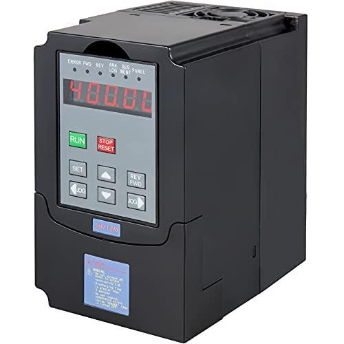 VEVOR Variador de Frecuencia VFD 2.2KW 10A 220-250V Convertidor de Frecuencia Variable Ajustable Variador de Frecuencia Monofásico o Trifásico Convertidor de Frecuencia 3HP