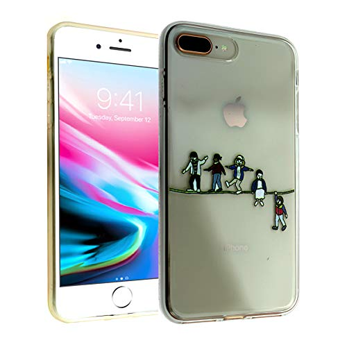 CASEMPIRE iPhone 7 Plus, iPhone 8 Plus Stranger TPU Case Shock Proof Never Fade Slim Fit Cover for iPhone 8 Plus, iPhone 7 Plus- Acrobat and The Fleas