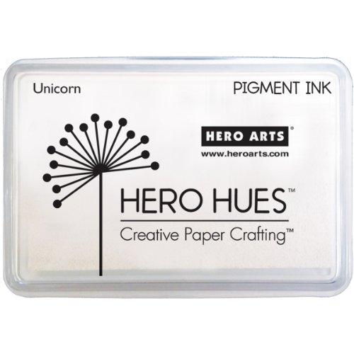 Hero Arts AF249 Hero Hues Ink Pad, White Unicorn Pigment, 3.5' x 2.5'