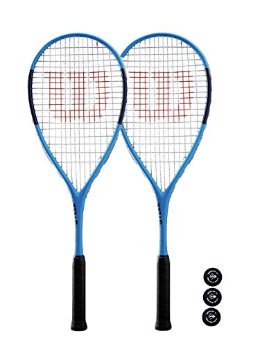 Wilson Ultra Elite - Raqueta de squash (2 + 3 pelotas de squash