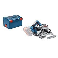Bosch Professional 18V System Battery Circular Saw GKS 18V-57 G (zaagbladdiameter: 165 mm, incl. 1x cirkelvormig zaagbladhout, zonder batterijen en oplader, in L-BOXX 238)*
