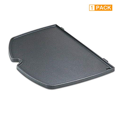 Grisun 6558 Cast Iron Griddle for Weber Q 100 and Q 1000 Series, Q100 Q120 Q1000 Q1200 Gas Grills (12.6 x 8.6 x 0.5)