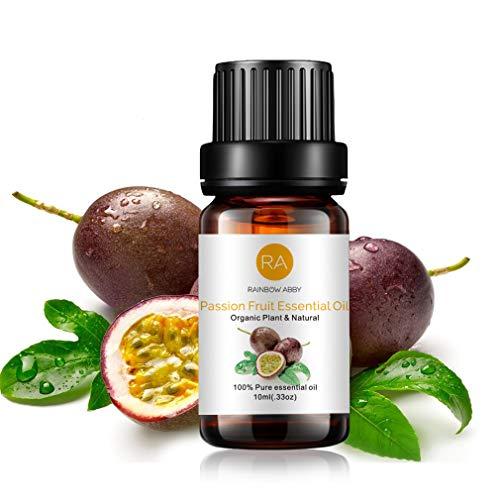 RAINBOW ABBY Passionsfrucht Ätherisches öl, 100% Reines Organisches Natürliches Aromatherapie Passionsfruchtöl Für Diffusor (10 Ml)