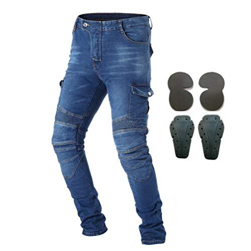 Pantalones de protección para hombre con armadura 4 rodilleras