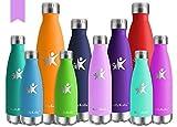 KollyKolla Bottiglia Acqua in Acciaio Inox, 500ml Senza BPA Borraccia Termica, Isolamento Sottovuoto...