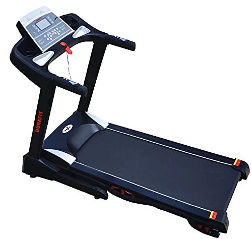 Durafit Springo 2.0HP ( 4.0HP Peak ) DC-Motorised Treadmill ( Max Speed: 16 km/hr, Max Weight: 115 ) with Free home installation...