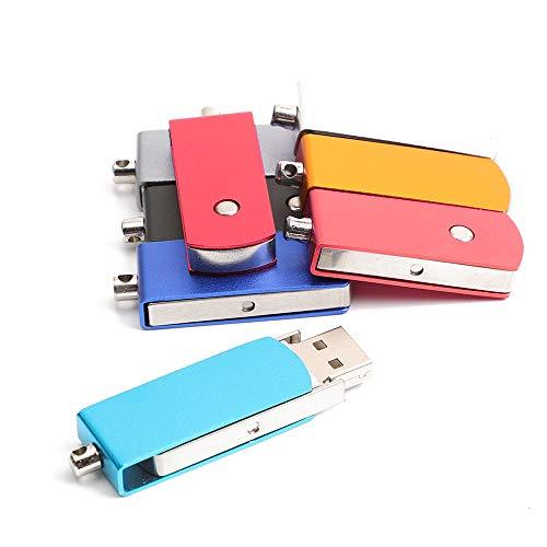 FANMU USB-Stick, Metall, aufklappbar, für Handy und Computer, zur Sicherung und Anzeige von Fotos, Musik, Dateien und Medien (High Speed, Schwarz), 64GB, himmelblau