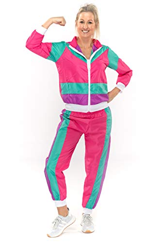 Original Replicas 80er Jahre Shell Suit Retro Trainingsanzug mit Hose New Kids für Frauen L - XS bis 3XL