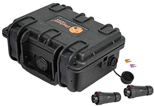 Elephant B095S4 Kayak Battery Box Waterproof Battery Enclosure for Powering GPS, Fish Finders, Led Lights, Aerator Pump (4 pin Single)