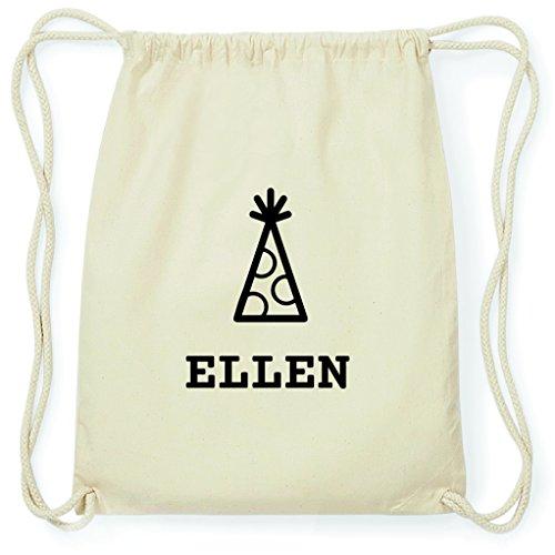 JOllify Turnbeutel - Happy Birthday - für Ellen - Hut