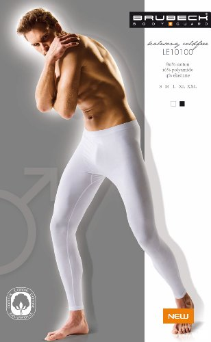 BRUBECK® 2X LE10100 Comfort Cotton Unterhose lang | Klassisch | Fein | Nahtlos | PerfectFit | Körperbetont, Größe:XL;Farbe:Weiss