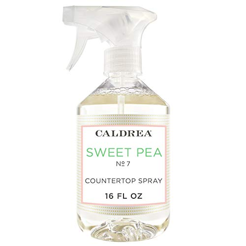 Caldrea Multi-surface Countertop Spray Cleaner, Made with Vegetable Protein Extract, Sweet Pea Scent, 16 oz