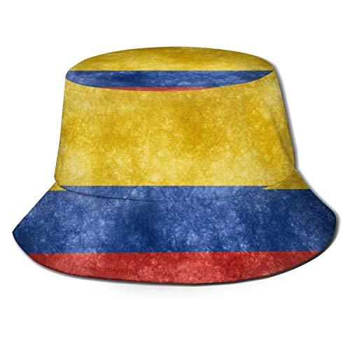 GYHJH Flagge von Kolumbien Fischerhut Faltbarer Reisestrand-Sonnenhut