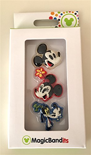 Disney Parks Mickey Minnie Goofy Pie Eyed Magic Band Bandits Set of 3 for Magic Bands