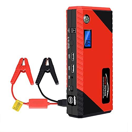 KaiLangDe 1200A 20000mAh Car Jump Starter Batería Emergencia Booster Herramienta eléctrica portátil Exteriores 6.0L Gasolina 5.0L Motor Diesel Cargadores USB 12V Linterna LED (Color : Red)