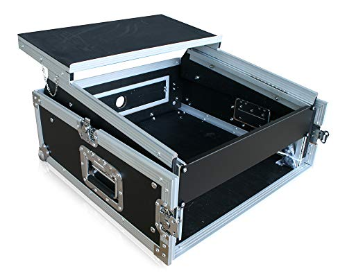Winkelrack 2HE met laptop-opbergruimte laptop eindversterker CD speler mixer DJ