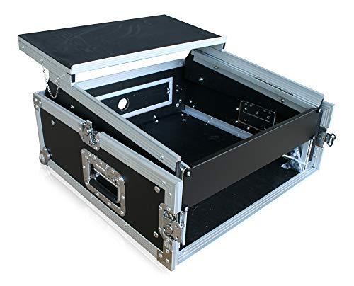 Winkelrack 2HE mit Notebook-Ablage Laptop Endstufe CD Player Mixer DJ