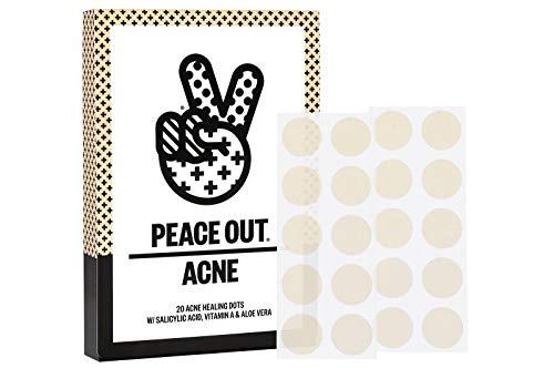 Peace Out Acne Dots - Acne Healing Dots - w/Salicylic Acid, Vitamin A & Aloe Vera (Set of 20 Dots)