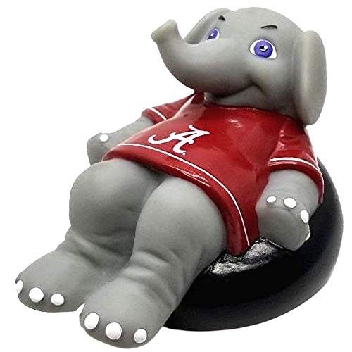 Rubber Tubbers University of Alabama - Premium Bath Toy Collectible Sports Memorabilia - First Ever Collectible Line of Licensed Floating Collegiate Mascots (Alabama Crimson Tide | Big Al)