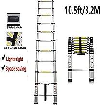 3.2M/10.5FT Aluminium Telescopic Ladder Portable Multi Purpose Ladder Steps Extension Extendable Ladder Perfect for Outdoor Indoor Builder DIY Jobs