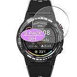 Vaxson Protector de pantalla de vidrio templado compatible con PRIXTON SW37 M7 M7S smartwatch Smart Watch, película protectora 9H
