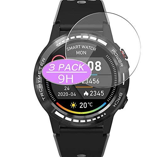 VacFun 3 Piezas Vidrio Templado Protector de Pantalla, compatible con PRIXTON SW37 M7 M7S smartwatch Smart Watch, 9H Cristal Screen Protector Protectora Reloj Inteligente