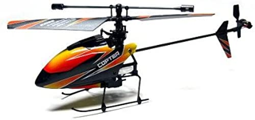 Wltoys RC Model V911 4ch 2.4GHz Remote Control naranja Helicopter (Mode 2) EH012 with RCECHO Full Version Apps Edition