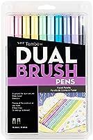 Tombow 56187 Pen Dual Brush Markers, Pastel