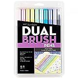 Tombow 56187 Dual Brush Pen Art Markers, Pastel, 10-Pack....