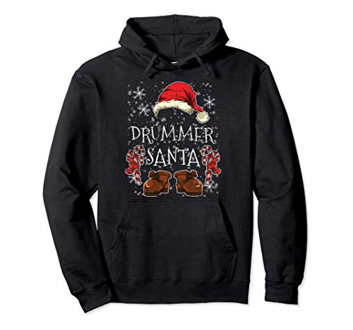 Schlagzeuger Partnerlook Outfit Weihnachtsmann Drummer Pullover Hoodie