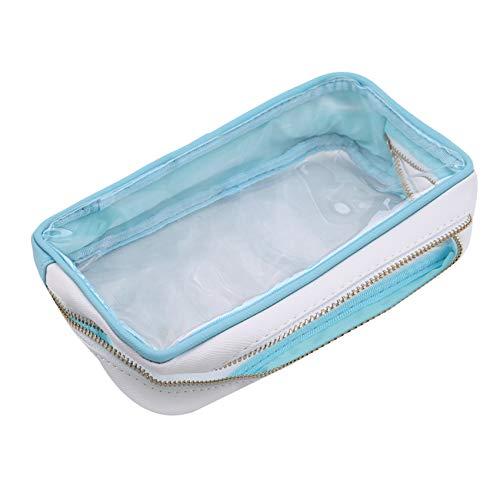 Figutsga - Bolsas de aseo transparentes para viajes, equipaje, ducha, cepillo organizador para mujer, azul claro (Azul) - Figutsga