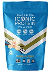 20g COMPLETE PROTEIN PER SERVING: ICONIC's vanilla protein powder is a healthy mix of both whey protein and casein protein which is slower-digesting and more filling than your run-of-the-mill whey protein powder blends so that you stay fuller longer,...