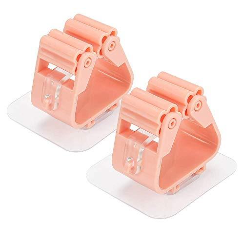Wmchiwan Punch-Free Stark Nahtlos Mop Rack Badezimmer Mop Haken Badezimmer Clip Mop Küche Besen Clip