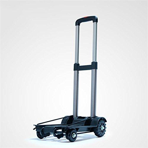 AICN_Rollwagen Kleinwagen-faltender Einkaufswagen-tragbarer Laufkatzen-Haushalts-vierrädriger Einkaufswagen-Aluminiumlegierungs-Laufkatzen-Hand-LKW (größe : With bag)
