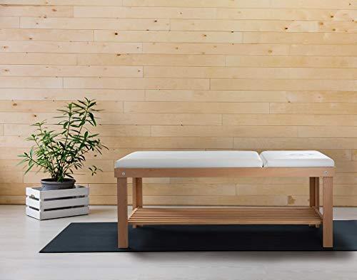 Lettino da Massaggio Fisioterapia Fisso 2 Sezioni 190x75x78cm...
