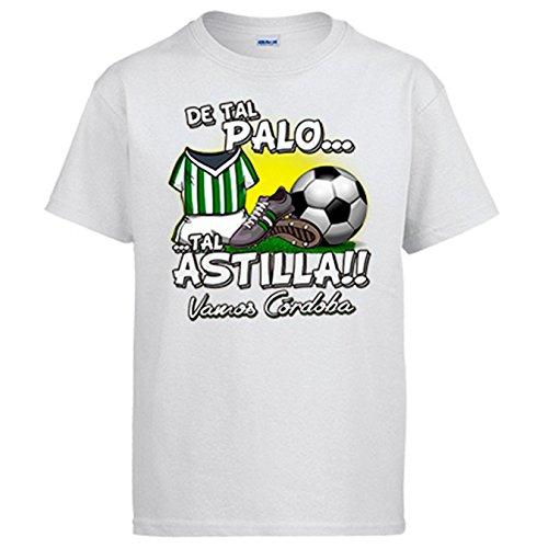 Camiseta de Tal Palo Tal Astilla de Córdoba para Aficionado al fútbol - Blanco, 9-11 años