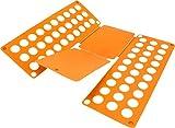 normani Falthilfe Wäschefalter Faltbrett Hemdenfalter - 11 Coole Farben zur Auswahl Farbe Orange