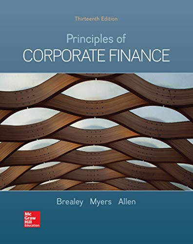 Loose-leaf for Principles of Corporate Finance (Mcgraw-hill/Irwin Series in Finance, Insurance, and Real Estate)