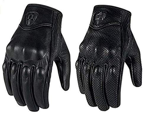 Lanrui Training Motorradhandschuhe Sport Leder Schutz Biker Rad Game Icon Geländ Handschuhe (XL, ohne Loch)