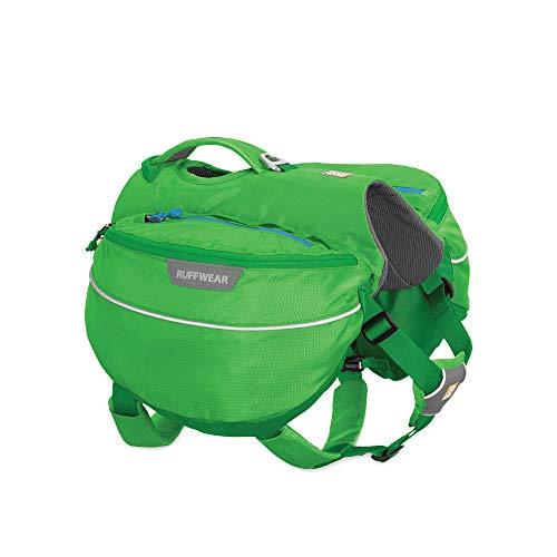 Ruffwear Wander-Rucksack für Hunde, Mittelgroße Hunderassen, Größenverstellbar, Größe: M, Grün (Meadow Green), Approach Pack